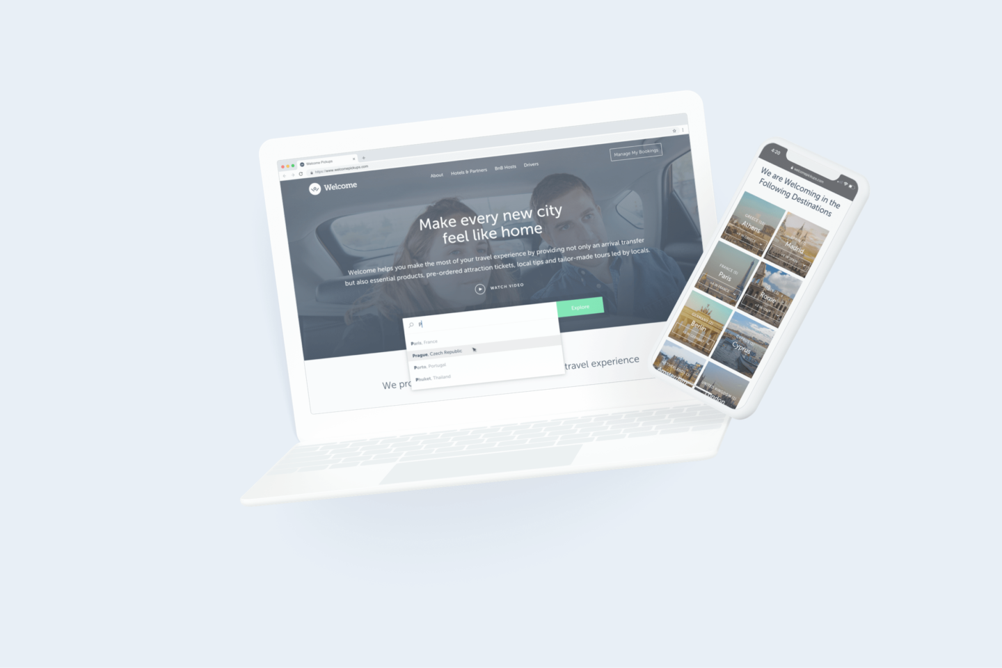 Welcome Pickups Landing Page